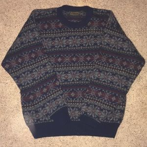 Vintage Eddie Bauer 80s 90s Wool Sweater Men's Lg